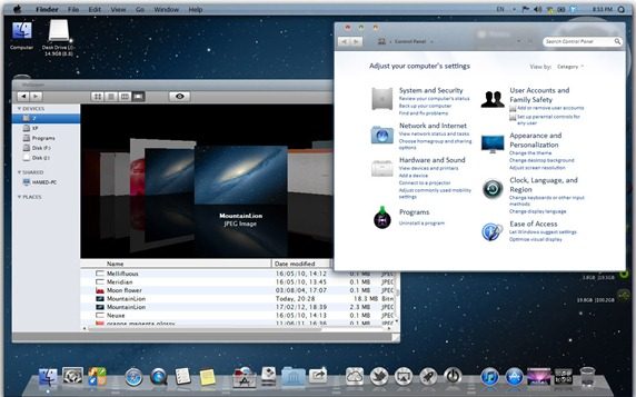 mac os x lion skin pack 11 theme for windows 7