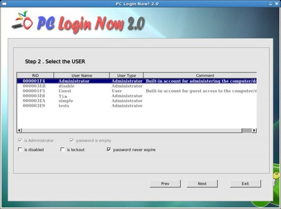 Free Password Recovery Tools for Windows 7, Vista and XP