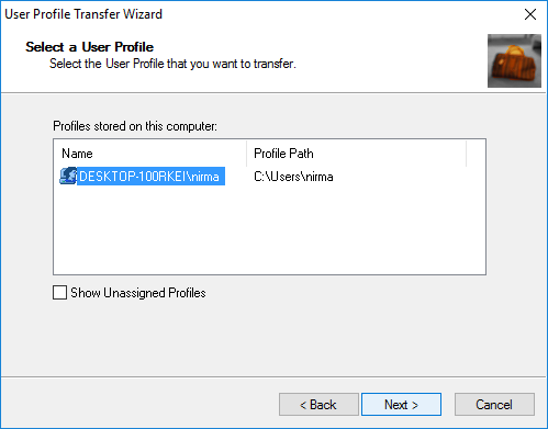 Transfer Personal Data and Settings from one Windows to Another with