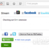 Facebook and Twitter Stream in Google+ with G++