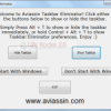 Hide Windows Taskbar with Taskbar Eliminator