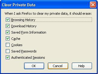 how to clear password data in firefox