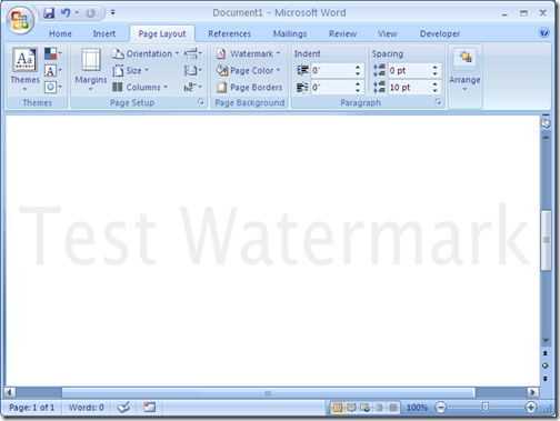 how to add watermark image in excel 2007