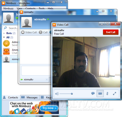 How To Video Call From Iphone Ipad To Pc Using Nimbuzz