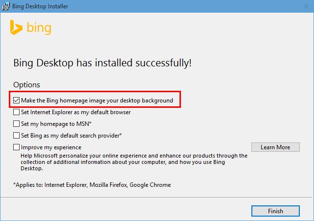 Bing desktop wallpaper for windows 10