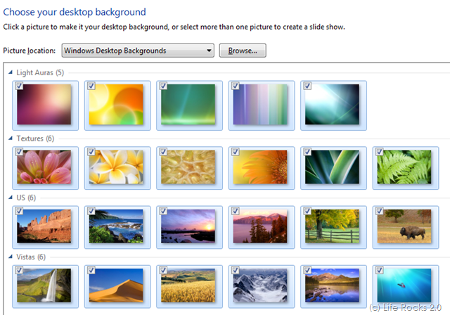 How To Change Wallpapers Automatically In Windows 7