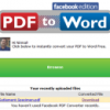 Convert PDF to Word Inside Facebook