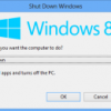 How to Quickly Shutdown Windows 8