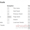 Keyboard Shortcuts for New Twitter Web