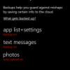 How to Enable Backup on Windows Phone 8