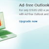 Remove Ads from Outlook.com for $19.95 USD a Year