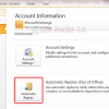 How to Set Up Automatic Replies (Out of Office) in Outlook 2010