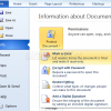 Protect Office 2010 Documents before Sharing