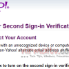 Yahoo Mail Secure Two-Step Verification Logins
