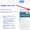 How to Access Google Cache Link in Google Search