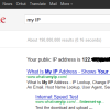 Find out your IP Address using Google