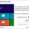 Change the Number of Tiles in Start Screen in Windows 8