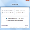 Hide Taskbar and Start Button on Windows 7 with Taskbar Hider