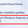 How to Turn On/Off Features in Windows 7