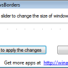 Reduce the Window Border in Windows 8