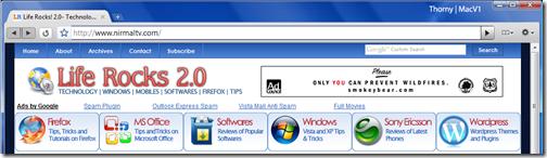 Google Chrome Mac theme