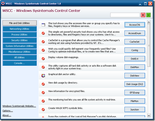 Full Sysinternals Suite screenshot